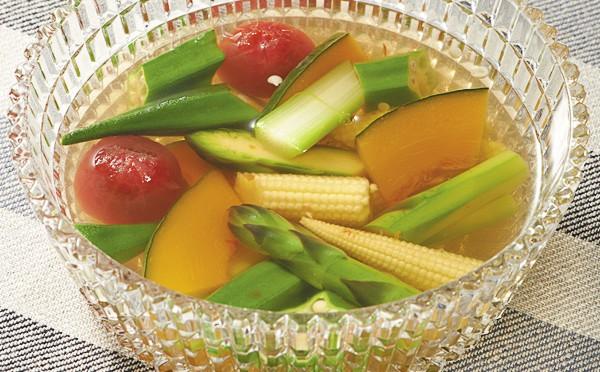 彩り野菜の煮こごり風