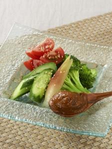夏サラダ牡蠣味噌ディップ