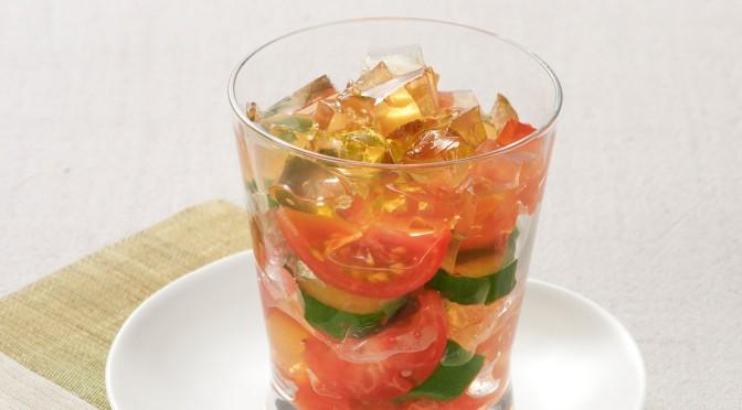 夏野菜&ジュレのグラスサラダ