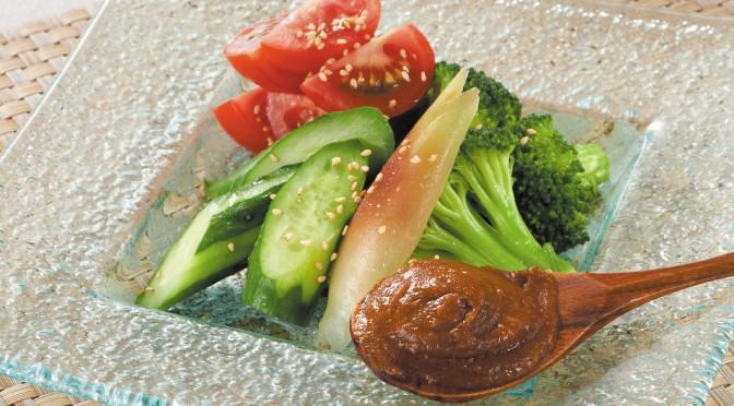 夏サラダの牡蠣味噌ディップ