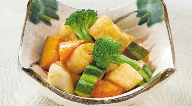 ぱりぱりアゲと野菜の炒め物