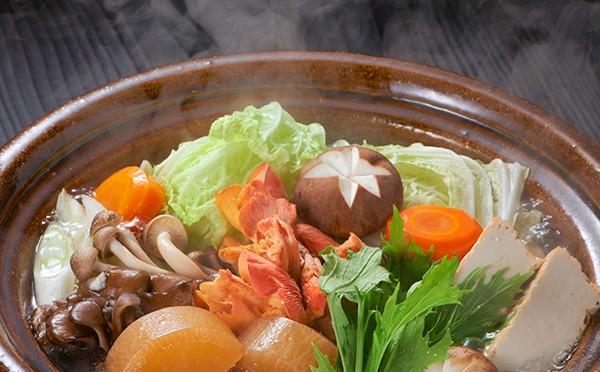 冬野菜ときのこの彩り鍋